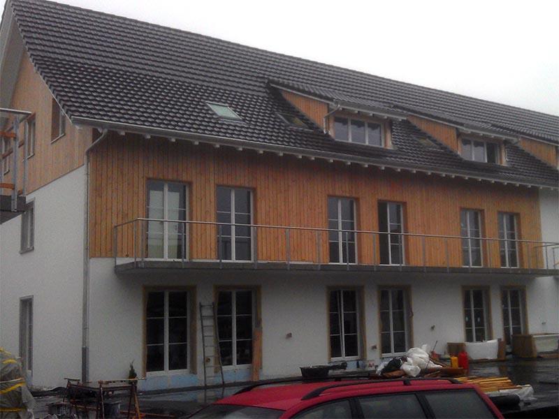 Fassade, Luftschalung geölt