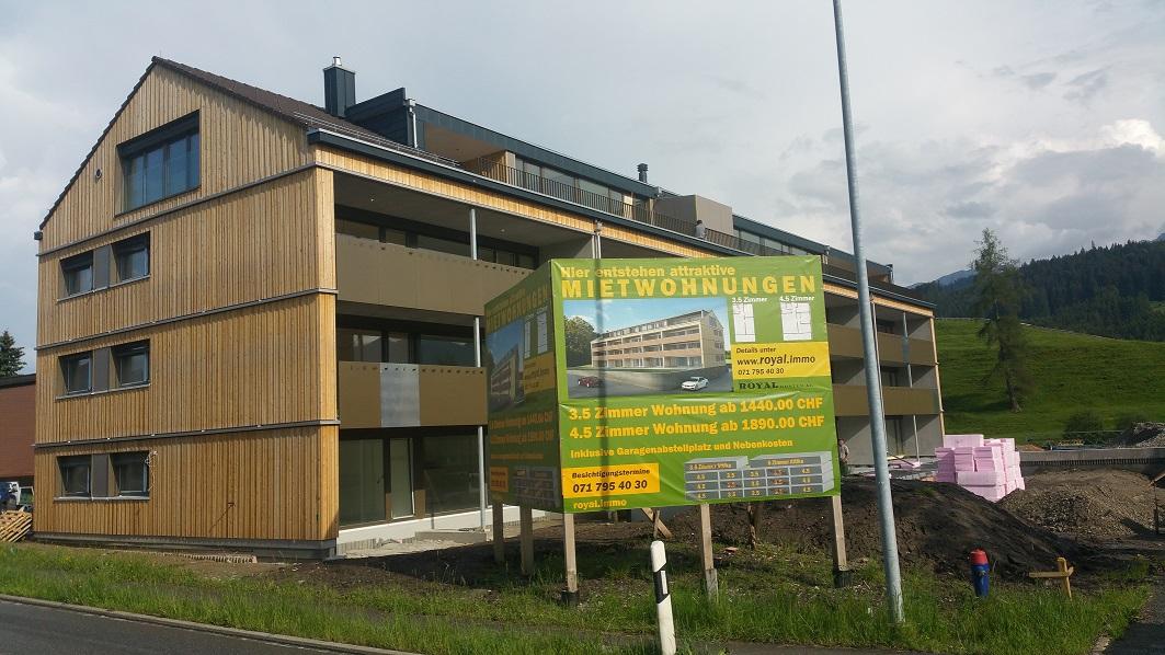 Fassade, Luftschalung Lärche