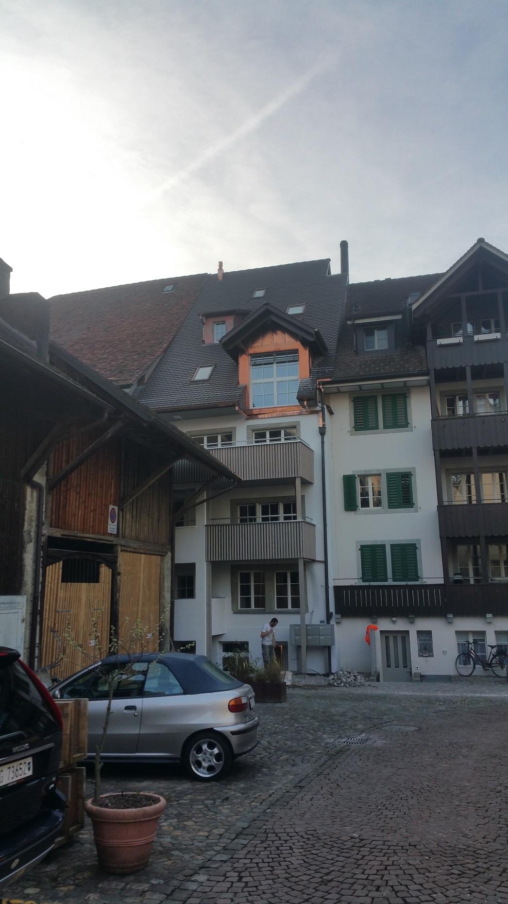 Dach und Balkon